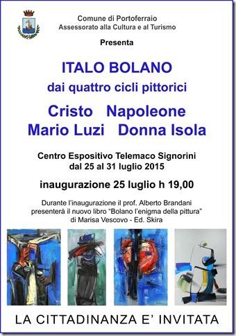 Locandina Mostra Italo Bolano