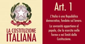 Art. 1 Costituzione Italiana