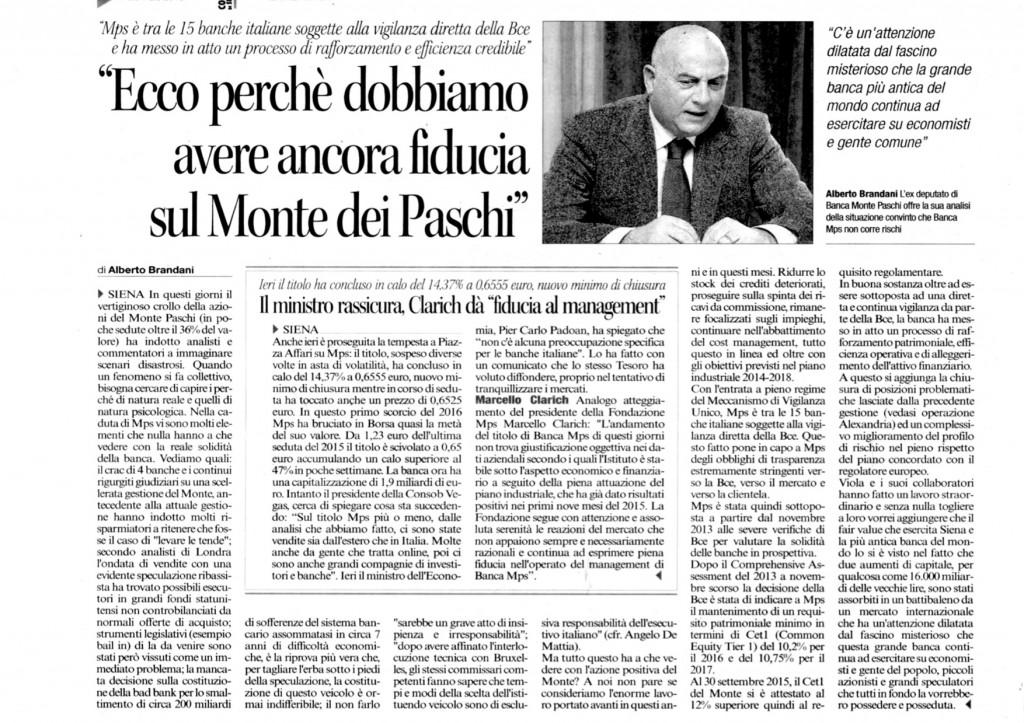 Corriere di Siena, 21 gennaio '16